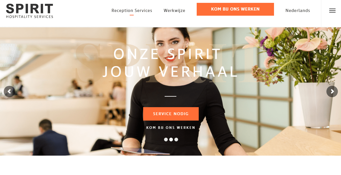 Header website Spirit Hospitality Services