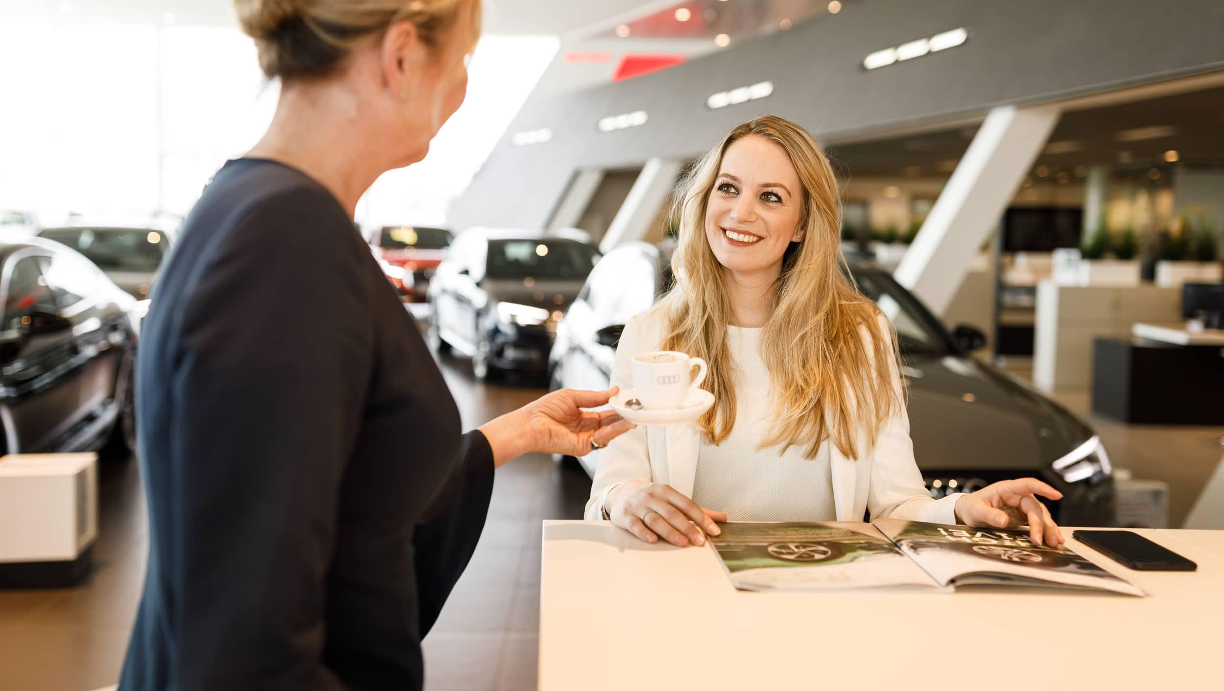 Receptie auto-dealer