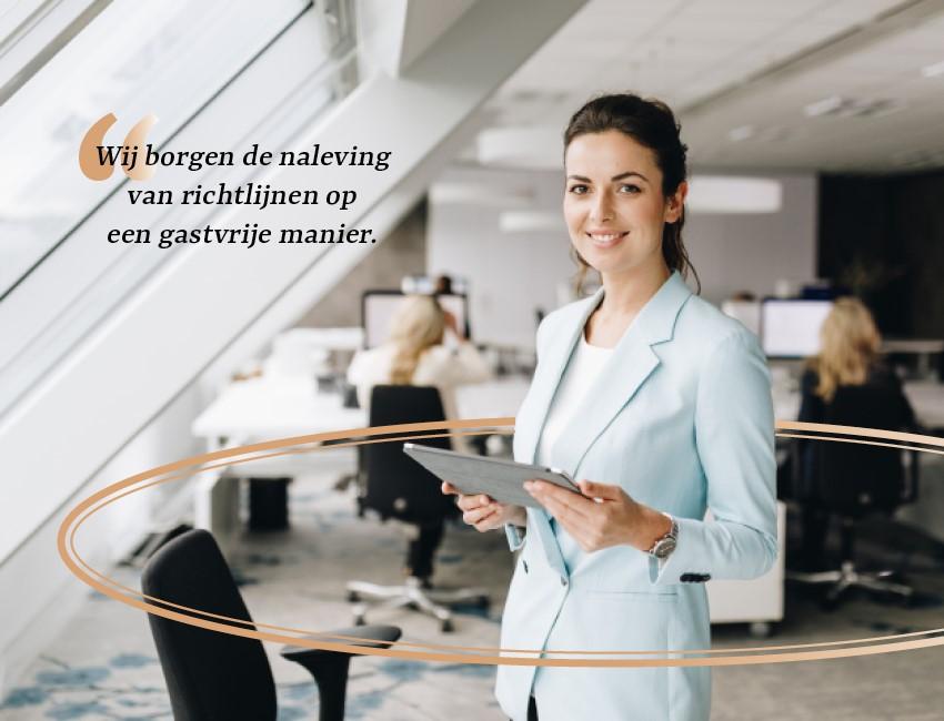 De toegevoegde waarde van een receptionist in het 1,5 meter kantoor